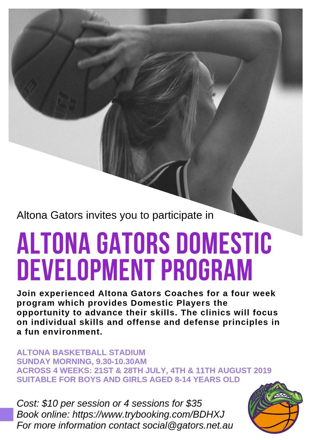 Altona Gators Domestic Development Program