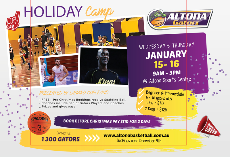 Altona Gators January Summer Holiday Camp 2020
