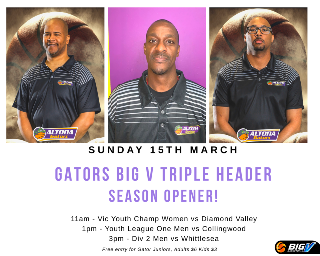 Gators BIG V Triple Header 2020 Season Opener