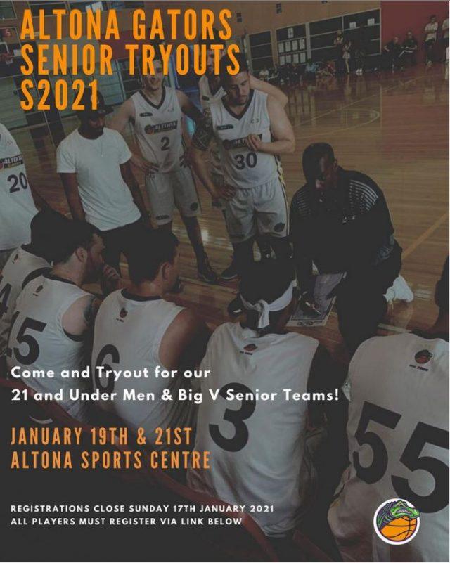 Altona Gators Senior BIG V Tryouts 2021
