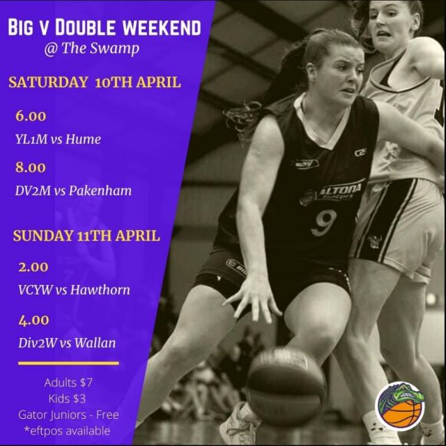 Gators BIG V Double Header Weekend Sat 10th & Sun 11th April