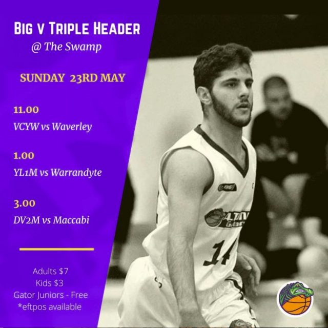 Gators Big V Triple Header Sunday 23rd May